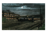 Trenton, New Jersey - Penn Railroad Station, Western Flier at Night Posters by  Lantern Press
