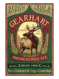 Elk Head American Pale Ale - Gearhart, Oregon Prints by Lantern Press