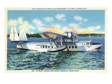 Miami, Florida - Pan American Flying Clipper Leaving for South America Art by  Lantern Press