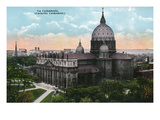 Montreal, Quebec - Catholic Cathedral Exterior Prints by  Lantern Press