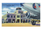 Jacksonville, Florida - Municipal Airport Administration Building Print by  Lantern Press