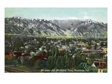 Pasadena, California - View of Mt. Lowe and Mt. Wilson Prints by  Lantern Press