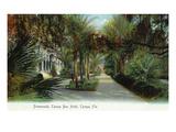 Tampa, Florida - Tampa Bay Hotel Exterior View from Promenade Kunstdrucke von  Lantern Press