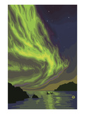 Northern Lights and Orcas Posters by  Lantern Press