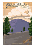 Cinder Cone - Lassen Volcanic National Park, CA Poster by  Lantern Press