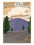 Cinder Cone - Lassen Volcanic National Park, CA Poster by  Lantern Press