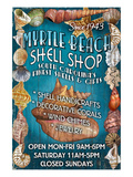 Myrtle Beach, South Carolina - Shell Shop Posters by Lantern Press 