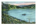 Santa Rosa, California - Fishermen on Lake Ralphine Prints by  Lantern Press