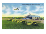 Charleston, South Carolina - Taking Off at Charleston Municipal Airport Prints by Lantern Press