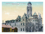 Wichita, Kansas - Central Fire Station and City Hall Exterior View Print by  Lantern Press
