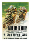 Motorcycle Racing Promotion Print by  Lantern Press