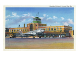 Kansas City, Missouri - Exterior View of Municipal Airport Prints by  Lantern Press