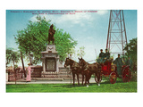 St. Joseph, Michigan - Scenic View of the Firemen's Monument Plakaty autor Lantern Press