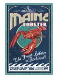 Lobster - Rockland, Maine Poster von  Lantern Press