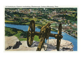 Lookout Mountain, Tennessee - View of a Confederate Cannon Overlooking Chattanooga Prints by  Lantern Press
