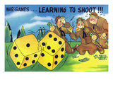 War Games, Learning How to Shoot Craps Prints by Lantern Press 