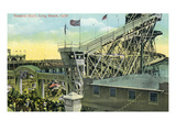 Long Beach, California - View of the Bamboo Slide Prints by  Lantern Press