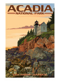 Acadia National Park, Maine - Bass Harbor Lighthouse Giclée-Premiumdruck von  Lantern Press