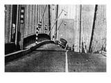 Tacoma, Washington - November 7, 1940 - Tacoma Narrows Bridge - Galloping Bridge Print by  Lantern Press