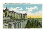 Quebec, Canada - Chateau Frontenac Overlooking Lower Town Scene Posters by  Lantern Press