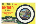 Akron, Ohio - Rubber Manufacturers Firestone, Goodrich, Goodyear Posters by  Lantern Press