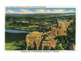 Lookout Mountain, Tennessee - View of Ochs Memorial Building on Point Lookout Poster by  Lantern Press