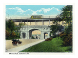 Cincinnati, Ohio - Eden Park Entrance Scene Prints by  Lantern Press