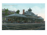 Cobleskill, New York - Delaware and Hudson Rail Station Print by  Lantern Press