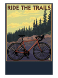 Bicycle - Trails Posters by  Lantern Press