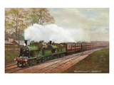 England - London and South Western Railways Bournemouth Express Train Prints by  Lantern Press