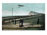 Dover, England - View of the Bleriot Airplane Crossing English Channel Posters by  Lantern Press