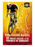 Cartel de carrera ciclista Láminas por  Lantern Press
