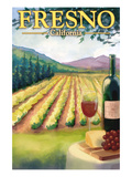 Fresno, California - Wine Country Prints by Lantern Press
