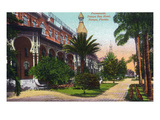 Tampa, Florida - Tampa Bay Hotel and Promenade View Posters by  Lantern Press