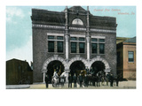 Waterloo, Iowa - Central Fire Station Exterior View Posters by  Lantern Press