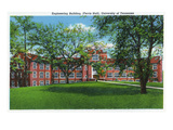 Knoxville, Tennessee - University of Tennessee, Exterior View of Ferris Hall (Engineering Bldg) Prints by  Lantern Press
