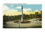 Quebec, Canada - Plaines of Abraham, Wolfe's Mounument Scene Posters by Lantern Press
