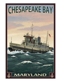 Chesapeake Bay Tugboat Scene Posters by Lantern Press