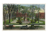 Syracuse, New York - Cars Parked around Fayette Park Posters by  Lantern Press