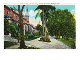 Tampa, Florida - Tampa Bay Hotel Promenade Scene Print by  Lantern Press