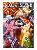 Block Island, Rhode Island - Shells Montage Poster von  Lantern Press
