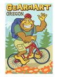 Bigfoot Bicyle in Oregon - Gearhart, OR Posters by Lantern Press