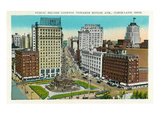 Cleveland, Ohio - Public Square, Euclid Avenue Aerial View Art by  Lantern Press