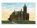 Syracuse, New York - Syracuse University, Crouse College View Art by Lantern Press 