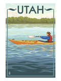 Utah - Kayak Scene Prints by  Lantern Press