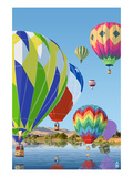 Hot Air Balloons Poster by  Lantern Press