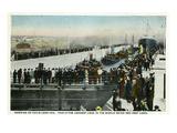Sault Ste. Marie, Michigan - Davis Lock Opening in 1914, Longest Lock in World Posters by  Lantern Press
