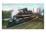 Sayre, Pennsylvania - Lehigh Valley Railroad Station Prints by Lantern Press