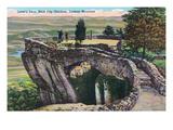 Lookout Mountain, Tennessee - Rock City Gardens, View of Lover's Leap Poster von  Lantern Press