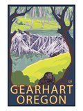Beaver Family - Gearhart, Oregon Prints by  Lantern Press
